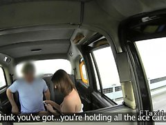 Uk cab driver bangs sexy brunette