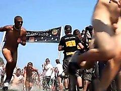 Danish Guys Women Run Nude = Roskilde Festival 2010 - DK
