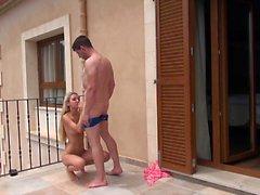 naughty-hotties net - horny cutie balcony quickie