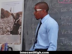 InnocentHigh Tiny Blonde Student Fucks BBC Teacher