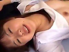 Piuttosto ragazza asiatica si sfonda l' miele caldo forato duro di