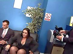 Brittiska slampa Dani i en foursome