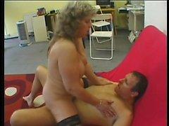 Brunette fucks a big cock