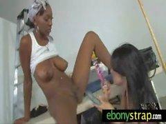 Interracial Teen Lesbians Strapon 7