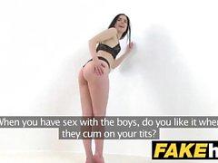 Fake Agent Hot skinny lingerie model fucked on photoshoot.