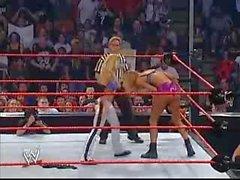 Trish Stratus vs Stacy Keibler Bra&Panties Paddle On A Pole Match