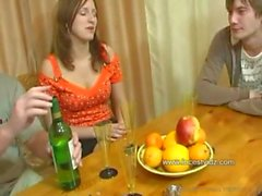 FamilySex - Usual family dinner turns into a party
