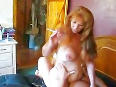 Redhead MILF Smoking Fetish BJ