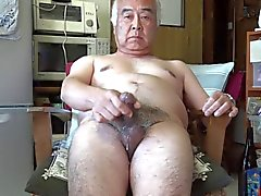 Японские мужчина Masturbation Семяизвержение на кухню