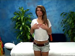 Mali seduced and fucked hard by her massage therapist.