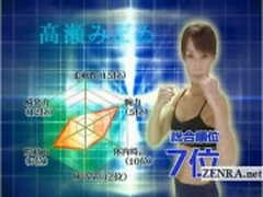 Ondertiteld volwassen vrouwelijke Japanse bodybuilder strippen