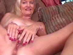 Skinny granny Nancy pussy masturbation video from matureshare