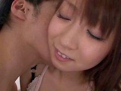 Subtitled Japanese AV star Hitomi Kitagawa stripping foreplay