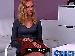 Czech Blonde likes it rough in Casting interview