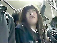 sessuale autobus con la donna che asian
