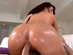 Hard shlong of a stud nails ass gap of sexy babe really hard