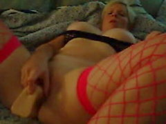 Naughty Brooke Playing with a Dildo and Vibrator