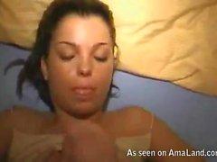 Kinky girlfriend enjoying some hot cum