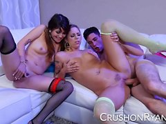 CrushGirls - Strippers Ryan Riesling and Raquel Roper share