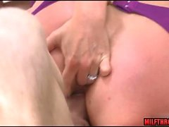 Big tits milf deep anal and cum in mouth