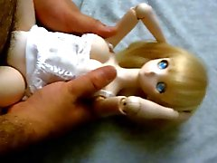 Biondo cute anime Dollfie onahole doll scopata