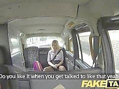 FakeTaxi - Blonde se hace follar en taxis capó