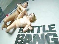ASIAN vs WHITE Porn Cage Bang part1