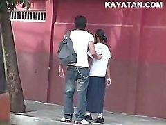 Papel manila muchacho Fucks Manila muchacha Pinay del escándalo de
