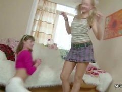Teen Stepsisters Get First Sex Togheter
