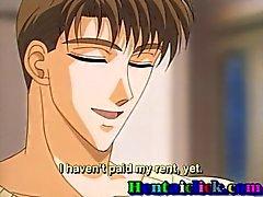 Hentai de Twink começa o seu galo sugada e de seduzir