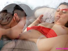 Lesbea Asian and Italian lesbian lovers orgasms