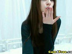 White Russian Brunette Fingering Her Honeycomb