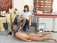 high heel crush nylons torture