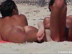 Sexy Naked Big Pussy Nudist Ladies beach Voyeur HD Video