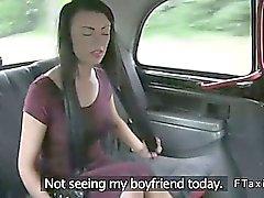 Lävistetty nipat Amateur nai taksiliikenteen