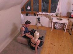 MyNaughtyAlbum - Czech Blonde Lucci seducing photographer