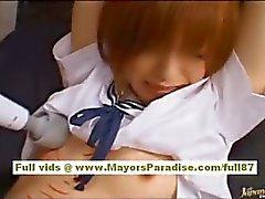 Azusa Itagaki Sıcak Asyalı piliç seksi bir vücut kızdırılmayacak kadar bağlıdır etti