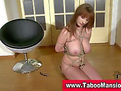 Check out this hot bound brunette big tits hoe in hd