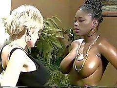 Ebony Ayes & Danni Ashe Go Breasts-2-Breasts