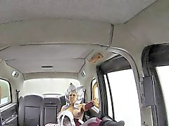 Costumed slut fucked taxi driver