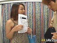 Di Cutie giapponese con un Hairy Pussy