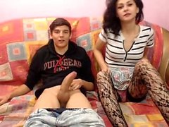 Big Titted Amateur Teen in Strümpfen