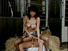 Teresa Orlowski in the stable