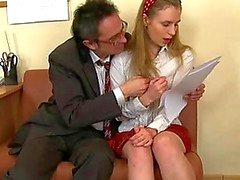 Cumshot lesson from old teacher