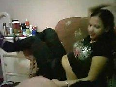 Mistress wants her feet slurped