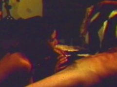 Vintage slut sucks and fucks a monster cock