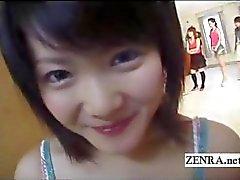 Spermasprut aplenty med Japan amatör POV CFNM avsugningar