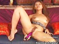 Petite asian slut sliding dildo on her part3