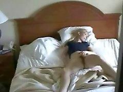 Hidden cam in bedroom caught my mum masturbating