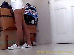 she put on pantyhose